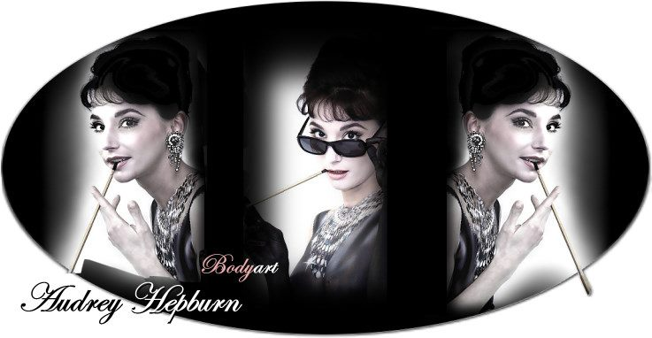 audrey hepburn bodypaint by Christine Dumbsky