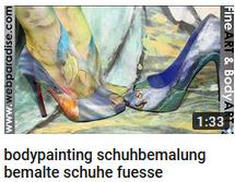 Fußbodypainting, fuesse bemalt, fußpainting und bodyart mit Schuhen, Brautschuhe handbemalt, individuell personalisiert vom Künstler, mit Airbrush Technik, birde shoes individualized, personalized direktly from the artist Christine Dumbsky, she works internationally and may paint your dream shoes how you imagine them. la artista podria pintar tu zapados suenos como quieres exactamente la artista esta especializado pinta zapados por la boda  por la novia y su novio con motivos como nombre, flores, fetcha de boda etc.