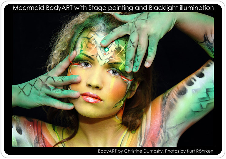 Bodypainting mit Model Ramona
