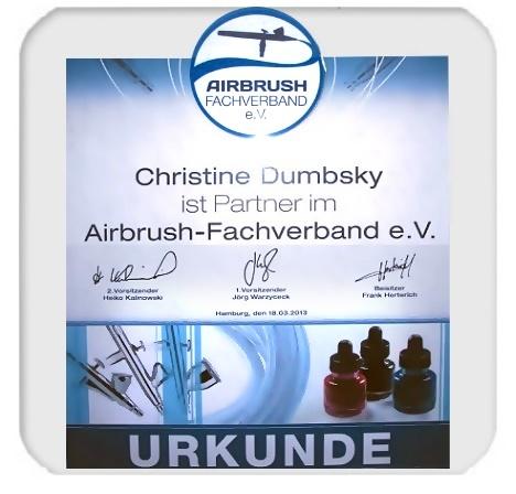 Mitglied im Airbrush-Fachverband